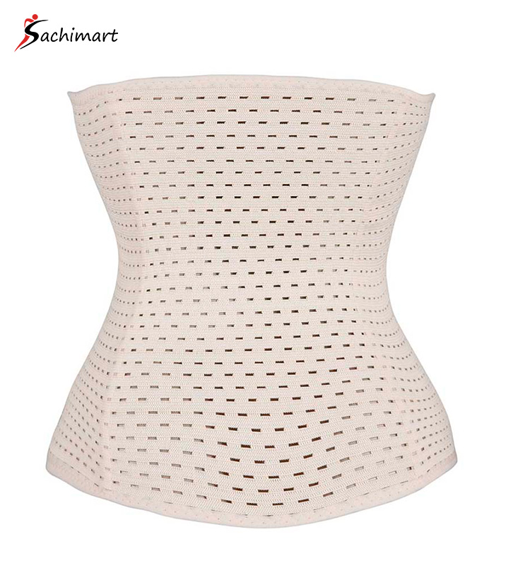 Elegant Body Slimming Cami Shaper Sexy Tight Leotards Flat Tummy Control Belt Workout Top Private Label Long Torso Waist Trainer