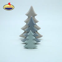 Arts and crafts ceramic led christmas tree for home decoration