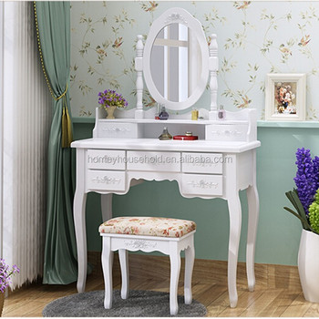 Victoria White Wood Makeup Mirror Dressing Tables