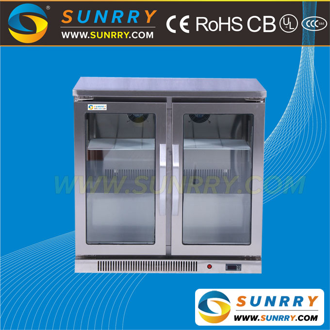 Commercial upright home freezer for counter top display refrigerator
