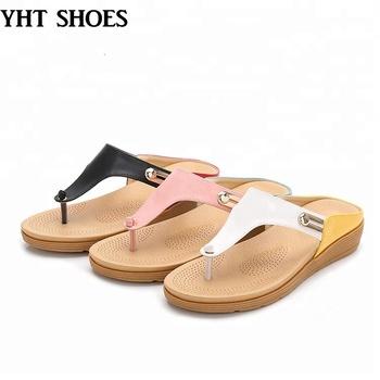 a2e760eb442 Hot sale women flip flop foot bed sandals New design ladies slide slippers