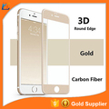 4d transparent tempered glass screen protector /blue color tempered glass for iphone 6s plus