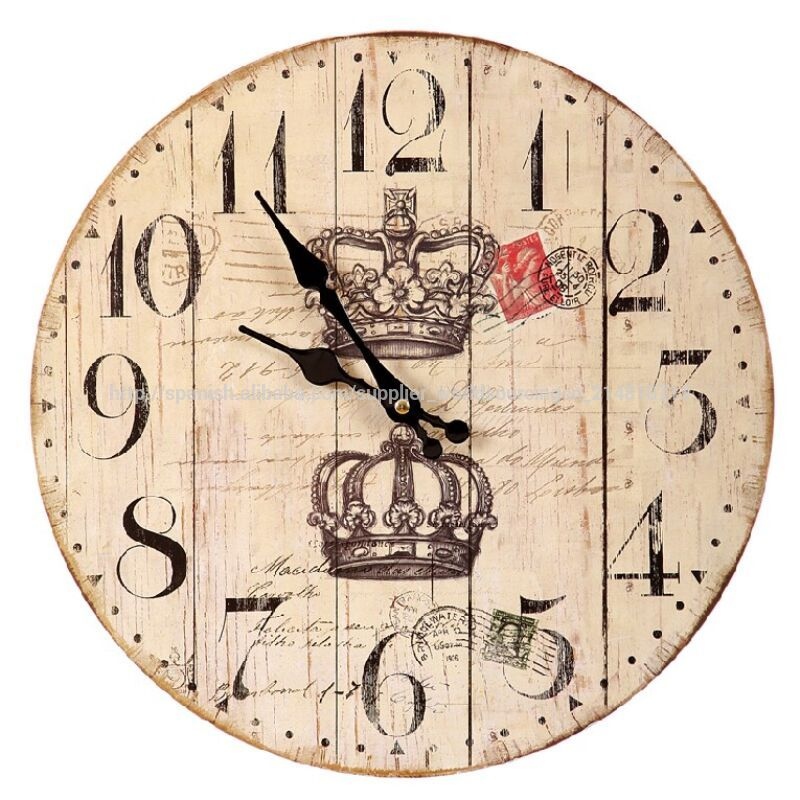 Reloj pared madera coronas relojes de pared identificaci n - Reloj pared madera ...