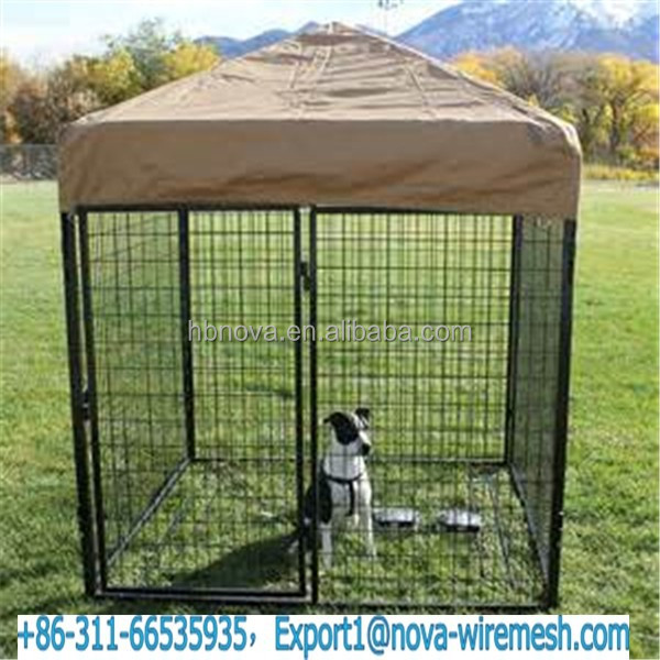 Cheap outdoor steel wire mesh dog kennel ( dog cage ) directly from Manufacturer