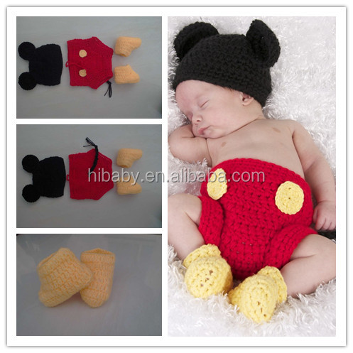 73dd75ac5 H818 mano-ropa de bebé de punto recién nacido fotos Mickey traje de modelos  femeninos