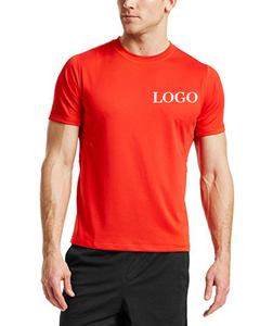 Summer dri fit gym sports t shirts wholesale /custom plain 100% polyester athletic t shirt in clothing manufacture