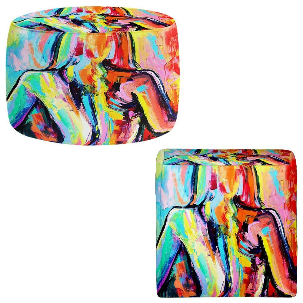 Foot Stools Poufs Chairs Round or Square from DiaNoche Designs by Aja-Ann - Exhibition