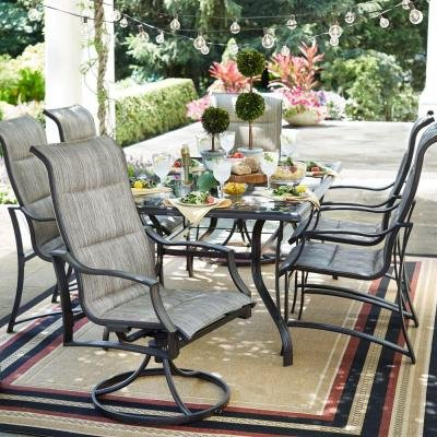 Get Quotations · Statesville 7 Piece Padded Sling Patio Dining Set