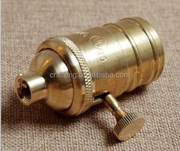 E27 Kupfer Lampenfassung Mit Schalter Retro Diy Beleuchtung Zubehor