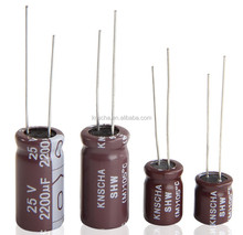 KNSCHA Aluminum Electrolytic Capacitor 1000uf 10v with size 8*12mm,replace Jamicon TKR series,best selling in Russia market