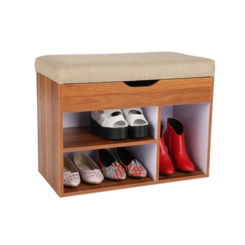Retail Shoe Rack Chair Wooden Storage Bench Cabinet With Seat Product On