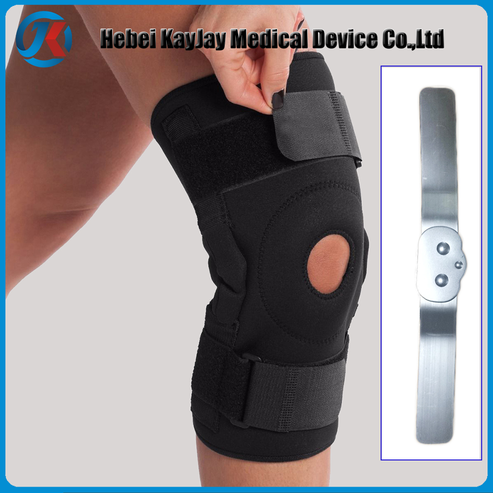 hinged neoprene black knee support best selling product in europe
