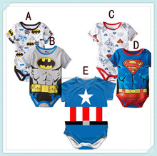 Baby Boy Girl Clothes Short Sleeve Cartoon Hero Summer Baby Romper Newborn Next Jumpsuits & Rompers Baby superhero body