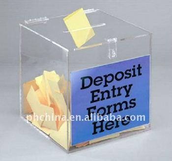 Jlb 024 clear acrylic box entry box with hinged lidcube plexiglass jlb 024 clear acrylic box entry box with hinged lidcube plexiglass deposit entry m4hsunfo