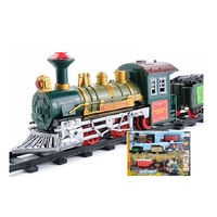 16PCS Battery Operated Christmas Train Track Train Toy With Light And Music