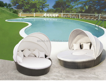 bali beach furniture rattan cheap outdoor patio daybed