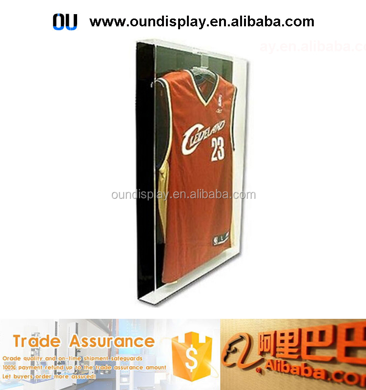 acrylic hockey jersey display locking NBA jersey frame cases