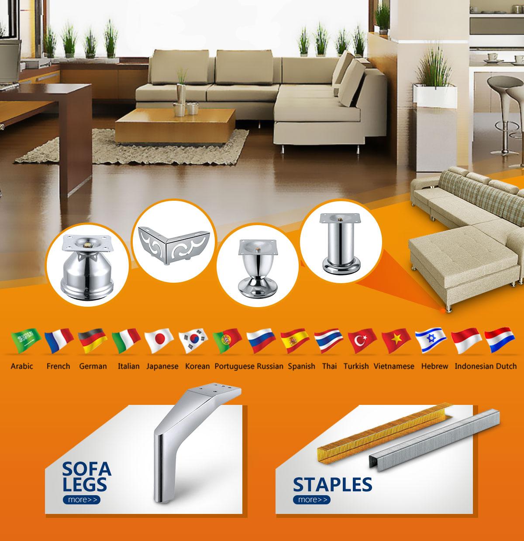 Foshan Zonehunts Trading Company Ltd  - sofa legs, staples
