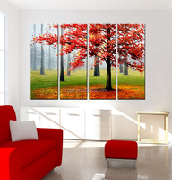 New Landscape Fabric Designs Handmade Artwork Painting on Canvas