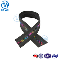 DAWEI brand YIWU High Quality Wholesale Prices Color zipper teeth elastic tape zipper