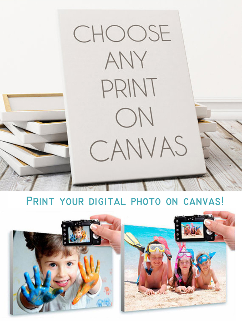 Quality Gallery Wrap Digital Picture Custom Canvas Print for wall