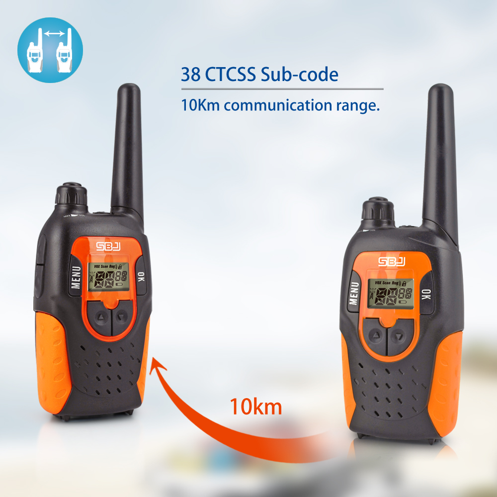 10km walkie talkie kids handheld wireless outdoor 2 way radios