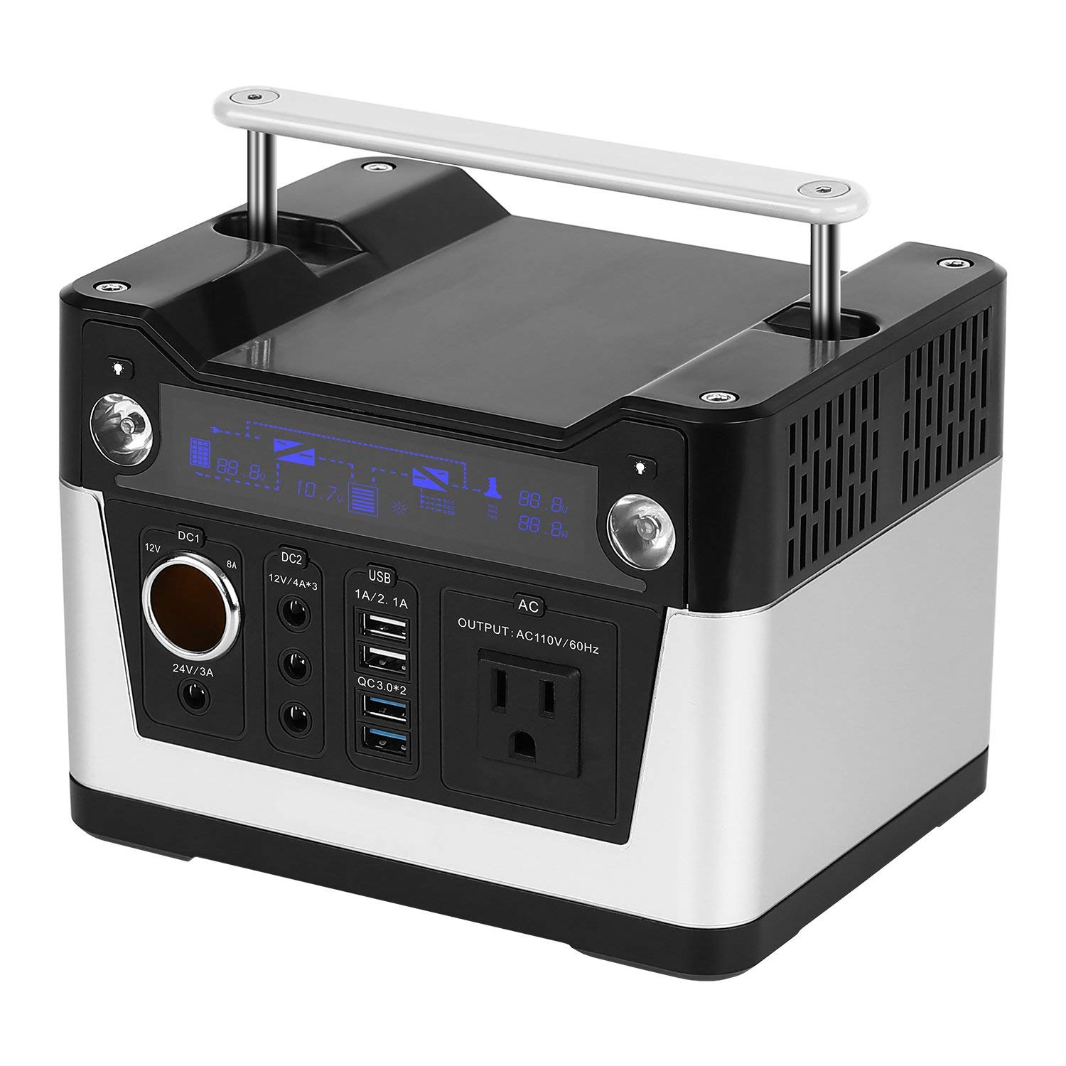 Portable Power Station Portable Lithium Rechargeable Solar Generator with 300W Pure Sine Wave