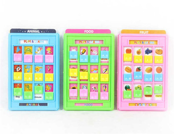 portable learning game baby educational learning machine with knowledge card