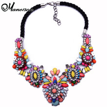 New Shourouk z Gem Crystal Flower Luury Vintage Chain Women Vintage Drop Collar Necklace Pendants B228