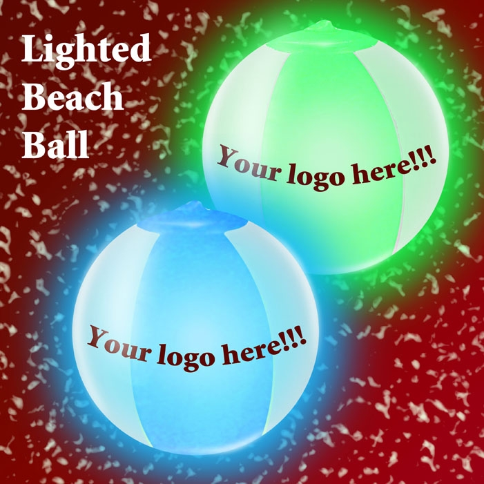 Inflatable Beach Ball with Light