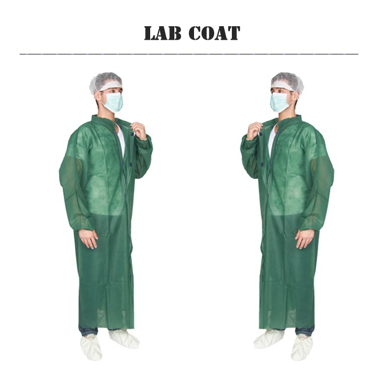 New Design Medical White Pink Cheap Disposable Lab Coats