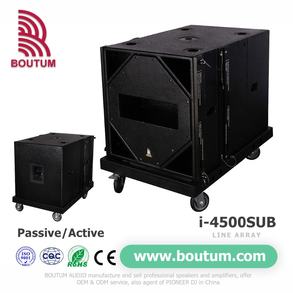 speakers subwoofer passive 650W powered single 18 inch subwoofer speaker