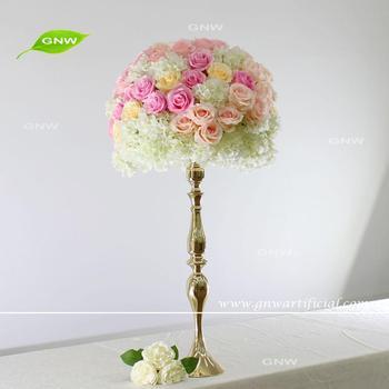 Gnw Hydrangea Flower Centerpieces Wedding High Table Decor