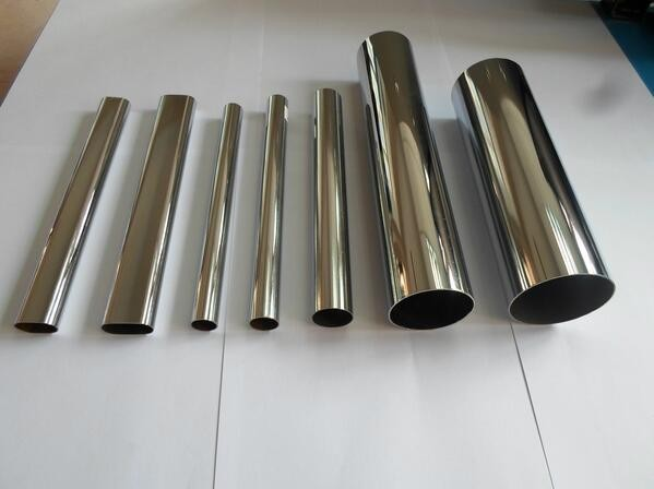 Chrome steel wardrobe pipe, oval wardrobe steel tube