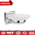 china sanitary ware market soap dish, round base glass soap holder china sanitary ware