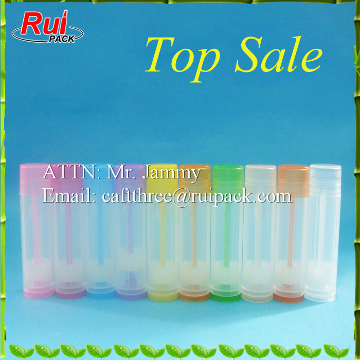 5g round mini lip balm tube container, winter lip care tube, 0.15oz lipstick packaging