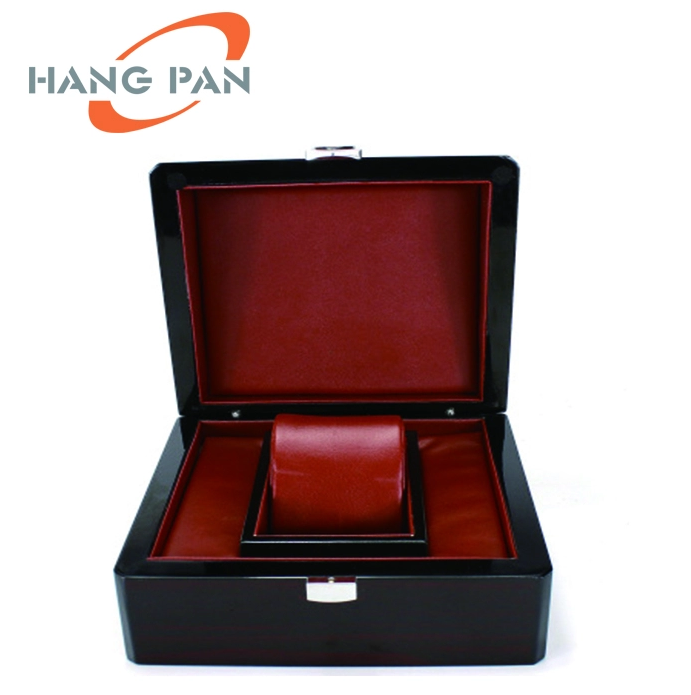 custom brown personalized luxury lacquered wooden watch box