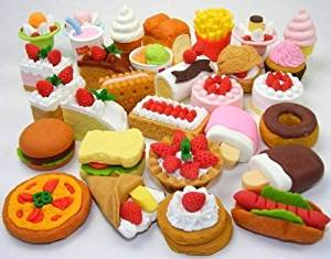 Iwako Japanese Puzzle Erasers - Random mixes 30pcs Foods and Desserts (30pcs RAMDOM MIXES - Colours and Types may be different from Images!)
