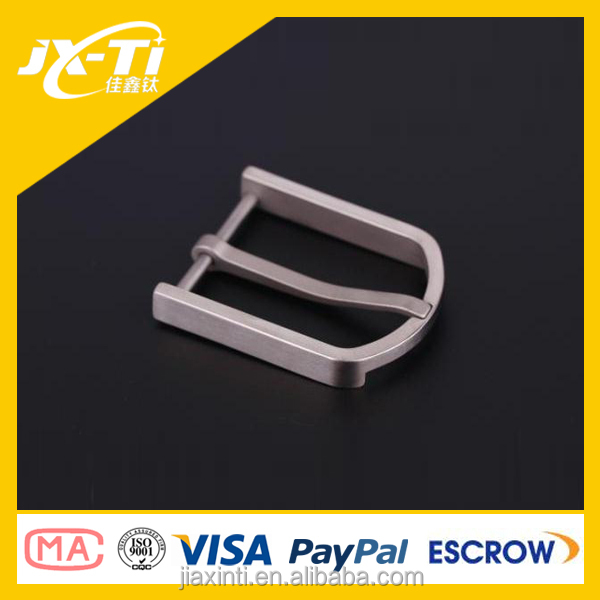 Ultralight Square Gr2 Pure Titanium Metal Belt Buckle manufacturers for Female