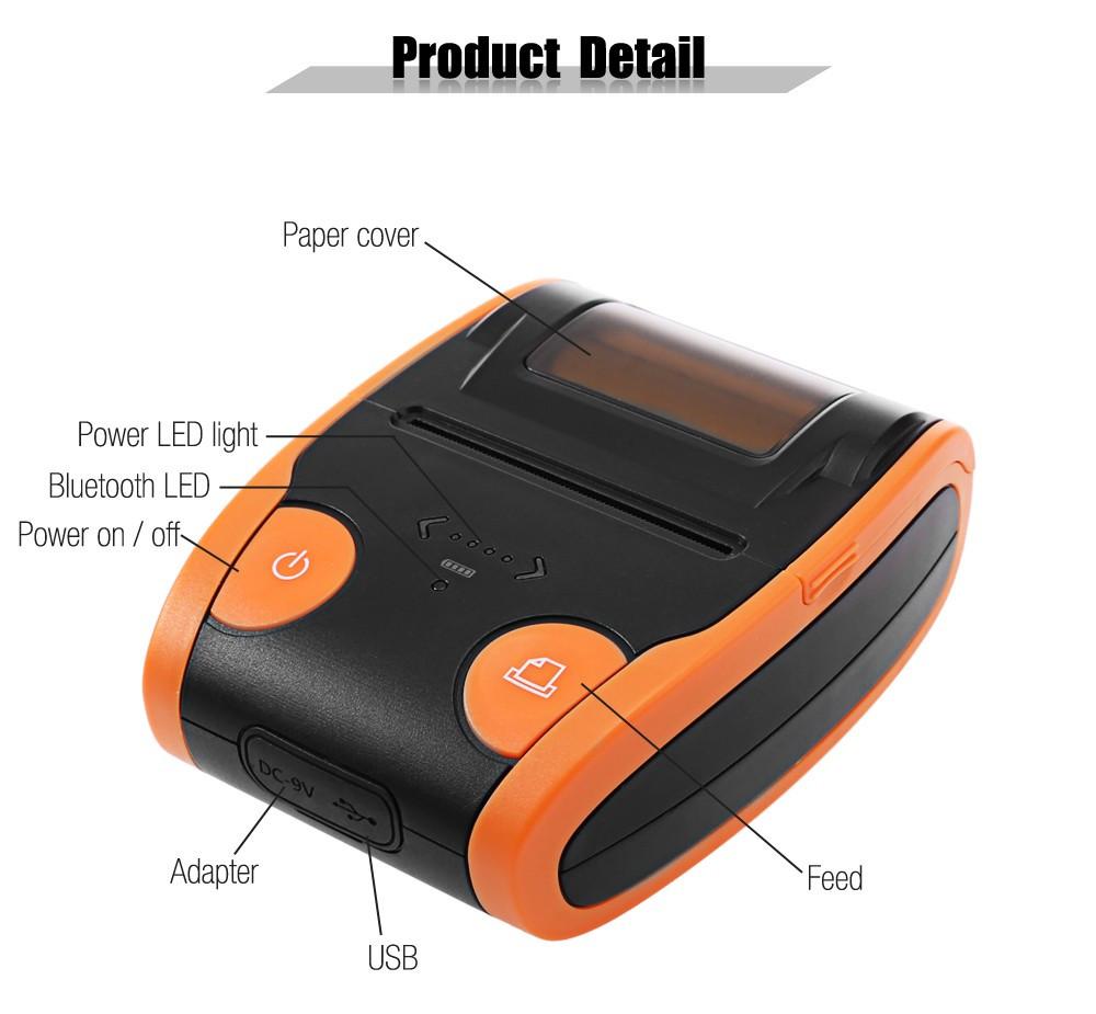 Promo Prezzo Veloce di Trasporto 58 millimetri Portatile Mini Stampante Termica Per Ricevute, Android IOS Bluetooth di Codici A Barre/QR Stampante di Etichette