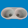 Wholesale Top Mount Double Bowl Solid Surface Acrylic Kitchen Sink