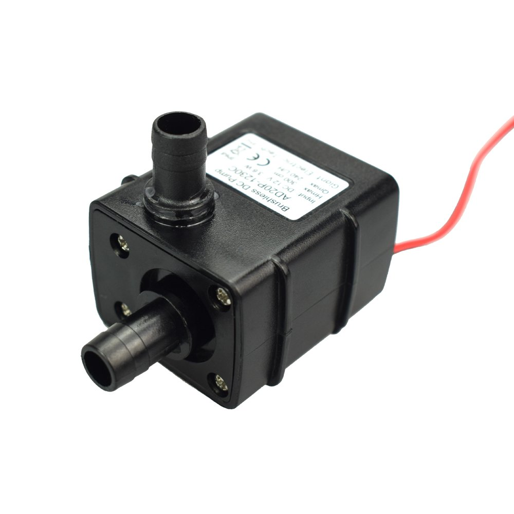Water Pump, Micro Submersible Brushless Water Oil Pump, DC12V Fountain Stream Pond Waterfall Aquarium Statuary Multifunction Pump, Water Circulation for Oxygen, Durable Amphibious Pump