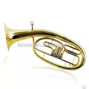 Bb Key Piston Yellow Brass Marching Baritone