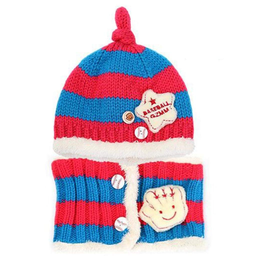 746f1655c9f Get Quotations · super1798 Infant Baby Kid Fashion Winter Warm Knitted  Striped Hat + Scarf Gift