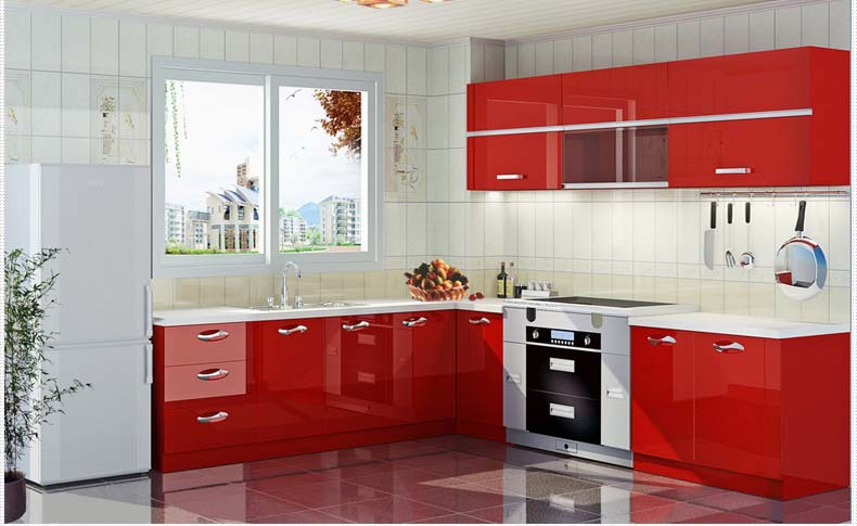 Attractive 2015 New Design Pvc Kitchen Cabinets/modern Kitchen Prices Part 6