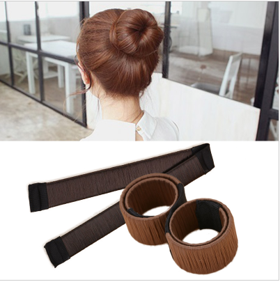 Hot sale New Hair Accessories Synthetic Wig Donuts Bud Head Band Ball French Twist Magic DIY Tool Bun Maker Dish Made Hair Band