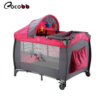 Simple Portable Playard Foldable Travel Crib Newborn Baby For Sleeping and Playing
