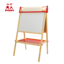 Wooden double sides drawing board children chalkboard easel magnetic easel for kids