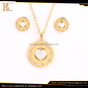 beautiful round shaped dubai 18 carat gold plated jewelry sets