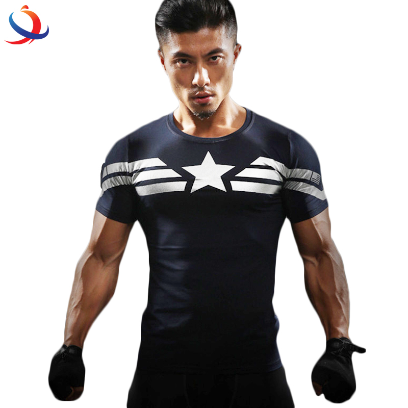95 Cotton 5 Spandex T shirts For Men And Good Quality Skin Tight T shirt